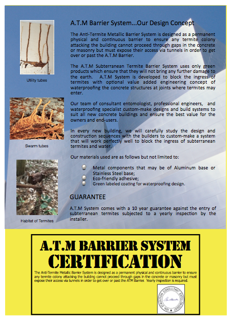Anti Termite Barrier System