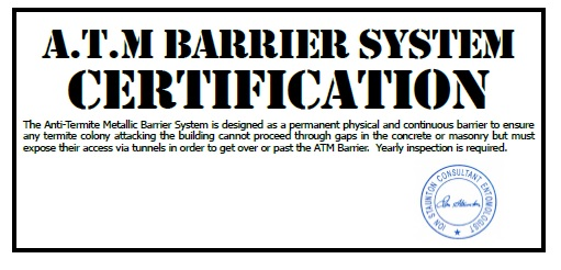 Anti-Termite Physical Barrier System